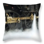 Blowing Of Steam Throw Pillow