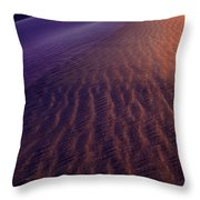 Blowing Sand At Death Valley Throw Pillow