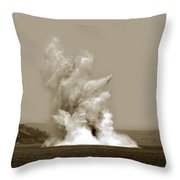 Blowing Up Arch Rock In San Francisco Bay Aug. 16, 1901 Throw Pillow