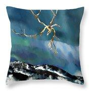 Blown Away To Sea Throw Pillow by Sarah Loft