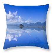 Blue Mokolii Throw Pillow