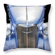 Blue 1937 Chevy Too Throw Pillow