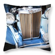 Blue 1953 Mg Throw Pillow