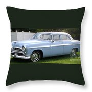 Blue 1955-56 Chrysler Throw Pillow