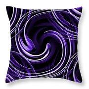Blue 3d Swirls Throw Pillow