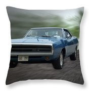 Blue 70 Charger Throw Pillow
