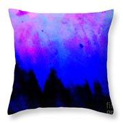 Blue Abstact  Throw Pillow