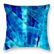 Blue Abstract Art - Paths - By Sharon Cummings Throw Pillow