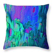 Blue Abstract Trunk Throw Pillow