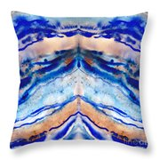 Blue Agate Abstract II Throw Pillow