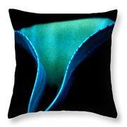 Blue Agave Vertical Throw Pillow