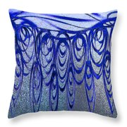 Blue And Black Swirl Abstract Throw Pillow