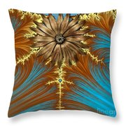 Blue And Brown Synergy Throw Pillow