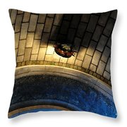 Blue And Gold In The Apse Throw Pillow