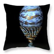 Blue And Golden Egg Throw Pillow