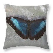 Blue And Grey Throw Pillow