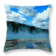Blue And More Blue Throw Pillow