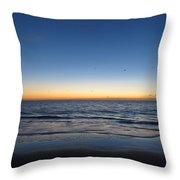 Blue And Orange Sky Throw Pillow