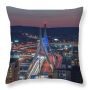 Blue And Red Zakim Throw Pillow