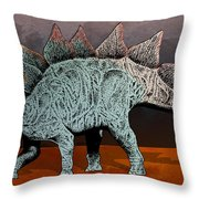 Blue And Rose Stegasarus Home On The Range  Throw Pillow