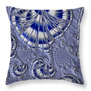 Blue And Silver 1 Throw Pillow