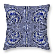 Blue And Silver 2 Throw Pillow
