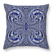 Blue And Silver 3 Throw Pillow