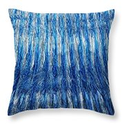 Blue And Silver Plastic Abstract Throw Pillow