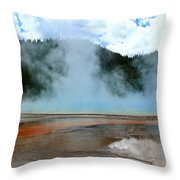 Blue And Steamy Throw Pillow