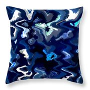 Blue And Turquoise Abstract Throw Pillow