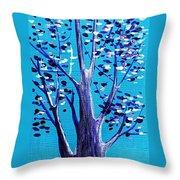 Blue And White Throw Pillow