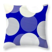 Blue And White Light Throw Pillow
