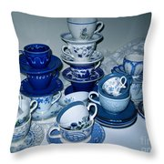 Blue And White  Throw Pillow