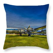 Blue And Yellow Connie Throw Pillow by Marvin Spates