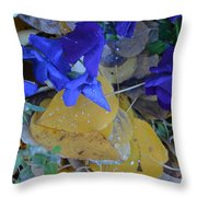 Blue And Yellow Not Making Green Throw Pillow