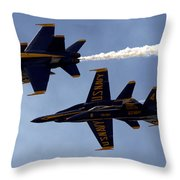 Blue Angel Demonstration Throw Pillow