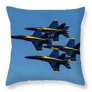 Blue Angel Diamond Throw Pillow