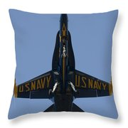 Blue Angel F/a-18 Throw Pillow