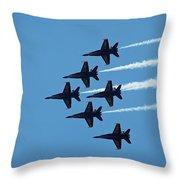 Blue Angels 4 Throw Pillow