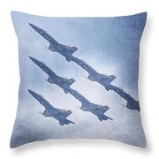 Blue Angels Fa 18 V18 Throw Pillow