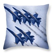 Blue Angels Fa 18 V19 Throw Pillow