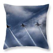 Blue Angels Fa 18 V2 Throw Pillow