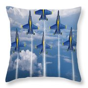 Blue Angels Throw Pillow by J Biggadike