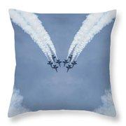 Blue Angels Love Throw Pillow