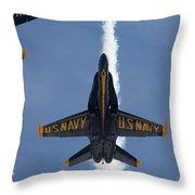 Blue Angels Overhead Break  Throw Pillow