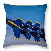 Blue Angels Single File Throw Pillow