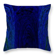 Blue Archways Throw Pillow