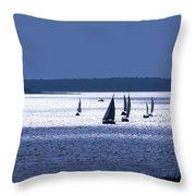 Blue Armada II Throw Pillow