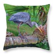Blue At Dunlawton Throw Pillow
