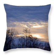 Blue At Dusk Throw Pillow